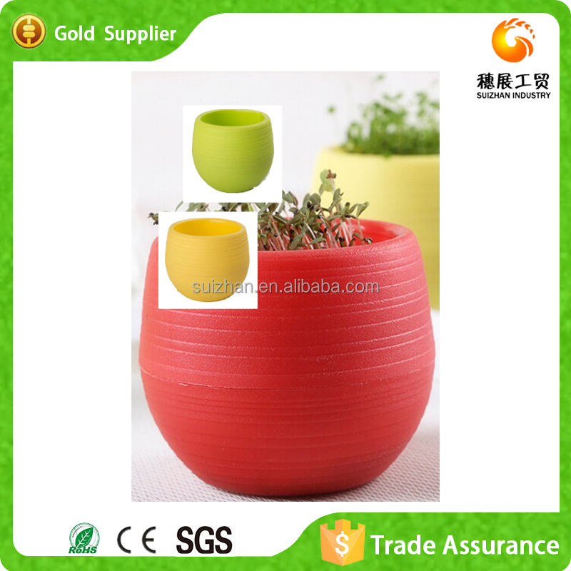 Wholesale Decorative Mini Colored Plastic Flawer Pot