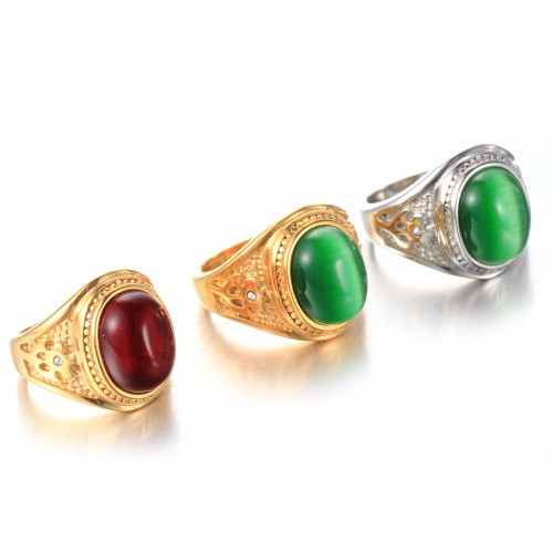 Classical Vintage Red Sapphire 925 Sterling Silver Gold Plated Filled Women Wedding Ring