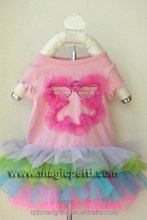 Cotton Top with Pettiskirt Dress/Pettiskirt for Party Girl's Beautiful Tutu Skirt Dress/Baby Apparel Skirt Pettiskirt MPA1002
