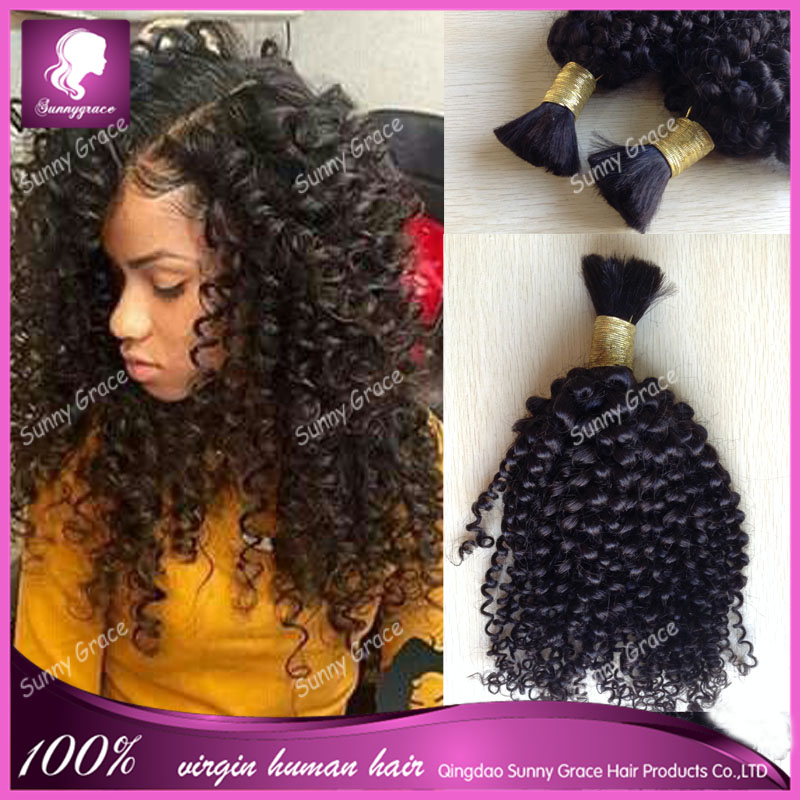 Afro kinky curly human <strong>hair</strong> for braiding bulk tangle free, no attachment Brazilian human braiding <strong>hair</strong> bulk