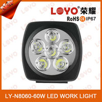 2015 NEWEST 60w 5160 lumens led worklight, 12V off road 4x4 led work light, ip68 led driving light