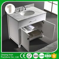 Inch-3006 bathroom cabinet White Solid Oak Wood bathroom vanity cabinet
