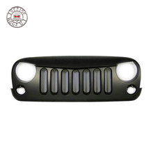 TOPFIRE 4x4 SUV Car black steel inside mesh grille for Jeep wrangler with GFRP material