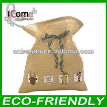 high quality recycle jute jewelry pouch jute bag wholesale