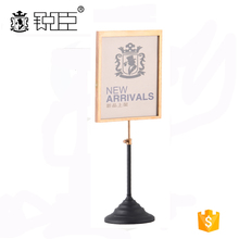 Table top A4 paper pop up display stand for retail