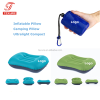Ultralight compact inflatable camping air pillow for hiking,travelling,backpacking,airplane,car