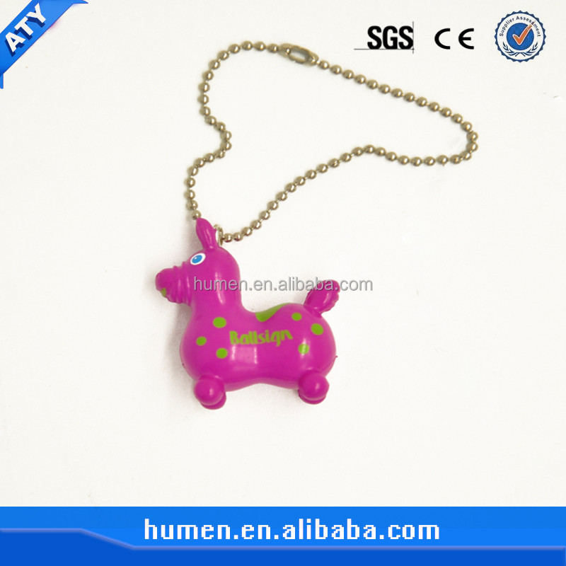 colorful keychain little horse for children toy