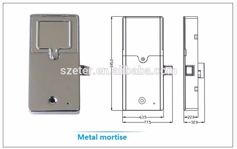Smart Metal Iron Electronic RFID hidden cabinet door lock EM126