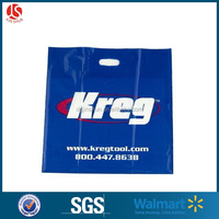 High Quality Cheaper Custom Logo Printing Stronger Reinforced Patch Handle Die Cut Bag Plastic Bag