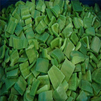 Chinese IQF frozen green pepper dice/strips/whole 10*10