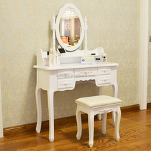 White Wood Mirror Almirah Simple Dressing Table Designs With Drawer