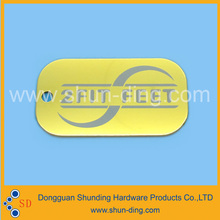 Custom Promotional Brand Logo Metal Tag