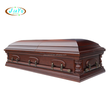 Best price china funeral coffin with cloth and adjustable bed wooden casket