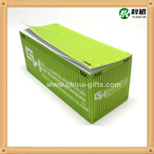 paper cube block pad container shape pad