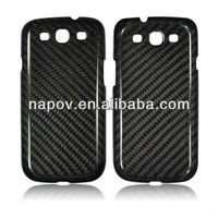 carbon fiber cell phone back cover case for samsung galaxy s3 i9300