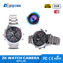 2K supper HD man wrist hand Motion Detection watch camera with pinhole lens