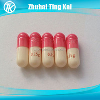 Customized printed empty vegetarian capsules size 0