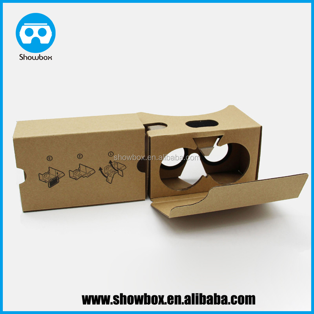 Google Cardboard V2 3D Glasses VR Fit for 6 Inch IOS Android Mobile phone and Headband