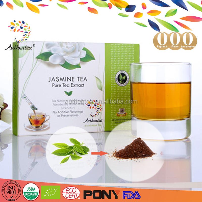 Bio Organic Jasmine mix Green Tea Extract Powder with 100% Pure Natural Material