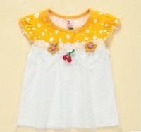 Hot selling 100% cotton baby girls dress 70-100cm wholesale