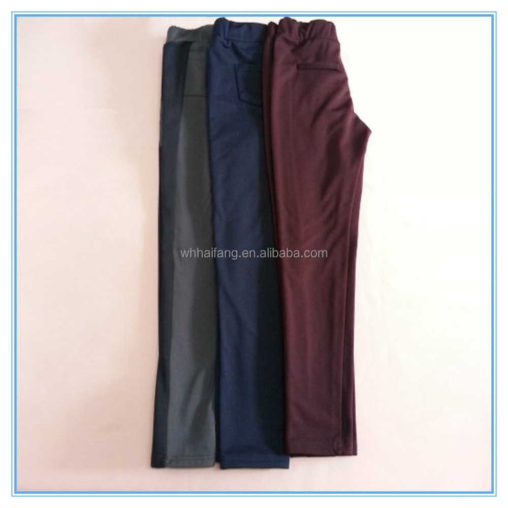OEM fitness elasticity lady polyester casual pencil pants Women high waisted slim stretch leggings Sexy and comfotable trousers