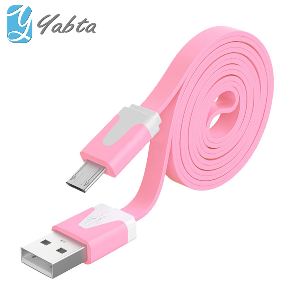 Amazon new product oem custom Flat noodle micro usb wire for Android phone