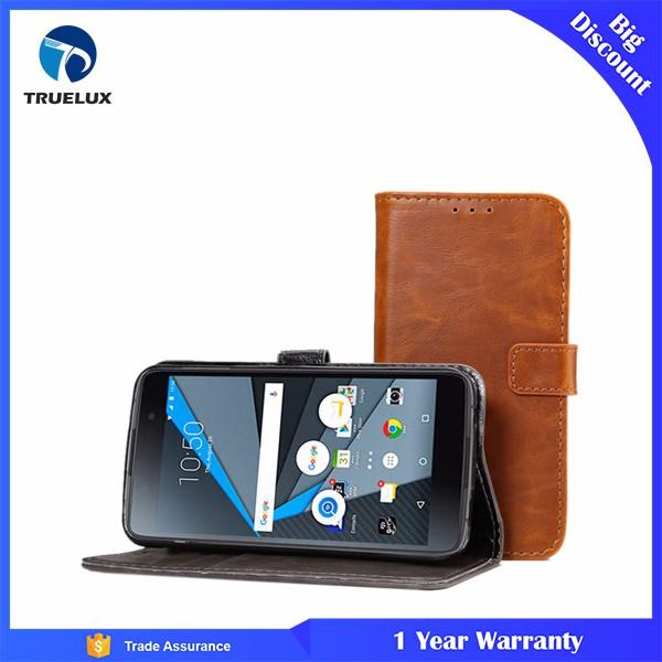 High Quality Stock Offer Retro Leather Case for Blackberry DTEK50 phone case cover