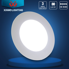 positive light round led panel downlight with aluminum panel for modern ceiling light