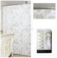 2015New 3d Flower Style Polyester Shower Curtain For Bathroom Accessories
