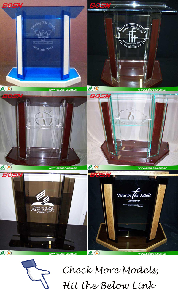 Glass Color Acrylic Podium