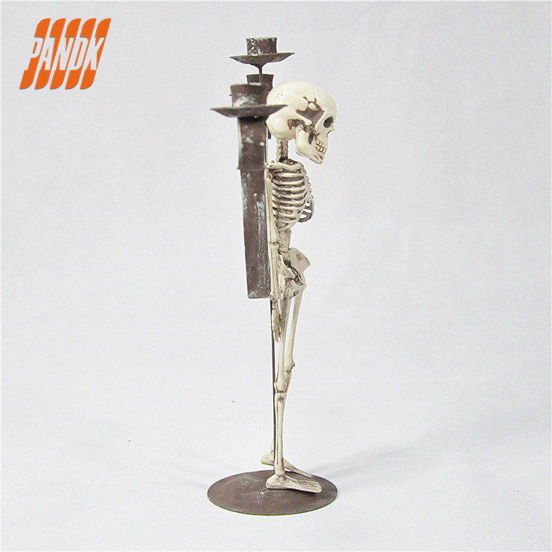 2017 HOT SALE HALLOWEEN DECORATION SKULL CANDLE HALLOWEEN PROPS SKELETON HALLOWEEN PARTY