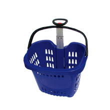 Trade Assurance Best Selling Plastic shopping basket, wicker shopping baskets with wheels, plastic basket with lid