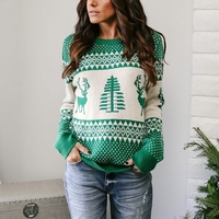 KEYIDI factory direct new design christmas sweater women