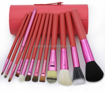 Professional Make-up Tool 12PCS Maquiagem Makeup Brush Set With Leather Cup Holder