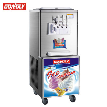 Small Cheap Mcdonald's 3 Flavor Italian Gelato Commercial Ice Cream Making Machine