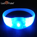Christmas Birthday Party Supplies blinking color change Led light Flashing Bracelet With Logo