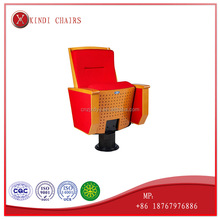 High density PU foam plastic case comfortable school chairs cinema chairs theater used school desk chair for Town Hall