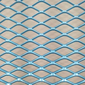 Painted aluminum grill expanded metal mesh for air filter