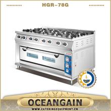HGR-98G commercial used 4 burner cooking range with hot plate factory