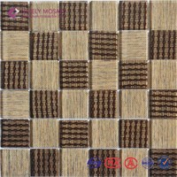 High quality popular decorative crystal glass mosaic wall panel