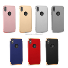 3 IN 1 Chrome hard case back cover for iPhone X