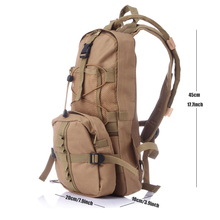 Water Bag 3 Colors 800D Oxford Tactical Hydration Backpack Outdoor Camping Hiking Cycling Camel Water Bladder Bag Camelback