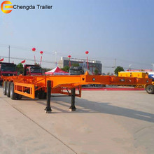 20 feet 40 feet container semi trailer skeleton truck semi trailer chassis price