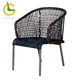 Stackable KD synthetic rattan chairs for the terrace