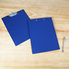 High quality customized a4 plastic pp paperboard hard cover writing folding file folder clipboard with pockets