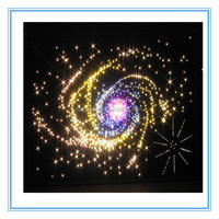 fiber optic star light decoration for christmas party lighting, colorful galaxy sign