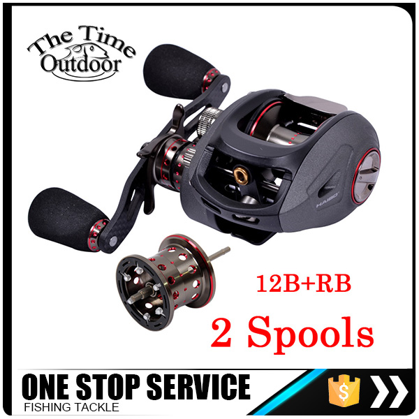 New Arrival 12B+Rb 6.5:1 Low Profile Baitcasting Reel Fishing