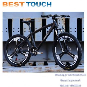 High Carbon Steel Frame 18 21 24 27 Speed 24'' 26'' Size Integrated Wheel 6 3 Spoke Rim Mountain Bike