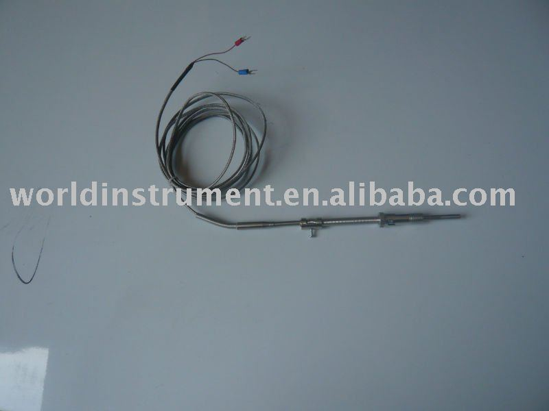 movable thread pt100 RTD with compensation cable