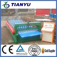 Automatic cold press metal roofing roll forming machine